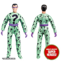 "Riddler Complete Mego Repro Outfit For 8"" Action Figure - Worlds Greatest Superheroes"
