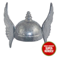 "Thor Helmet Mego World's Greatest Superheroes Repro for 8"" Action Figure - Worlds Greatest Superheroes"