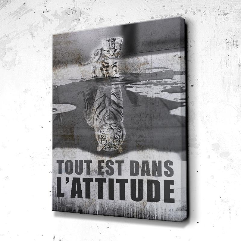 Tableau Motivation Attitude Chat Tigre
