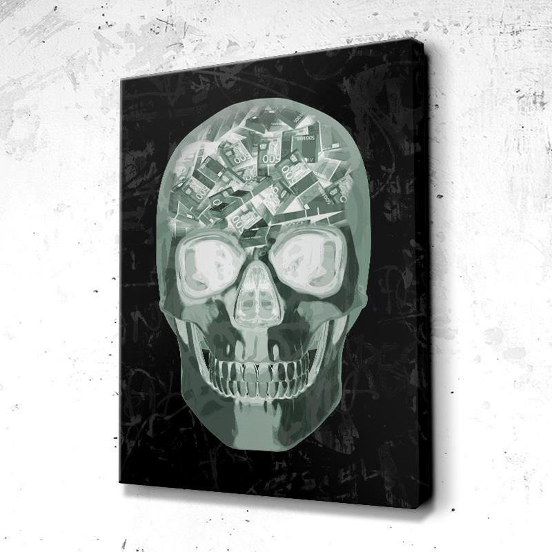 Tableau Crâne Head Skull Money