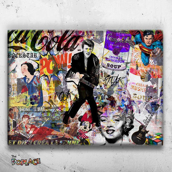 Tableau POP ART ROCK ICONS