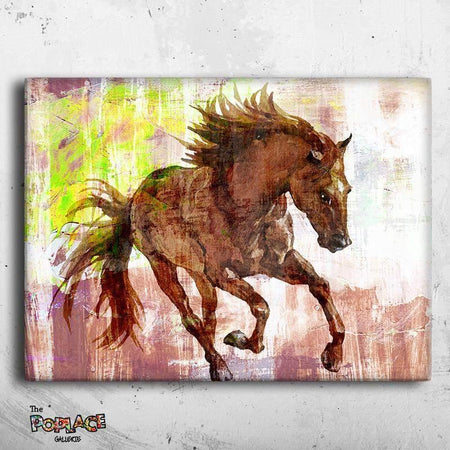 Tableau CHEVAL ABSTRACT thepoplace