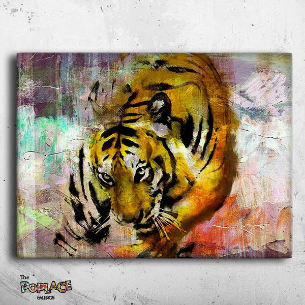 Tableau ABSTRACT TIGRE