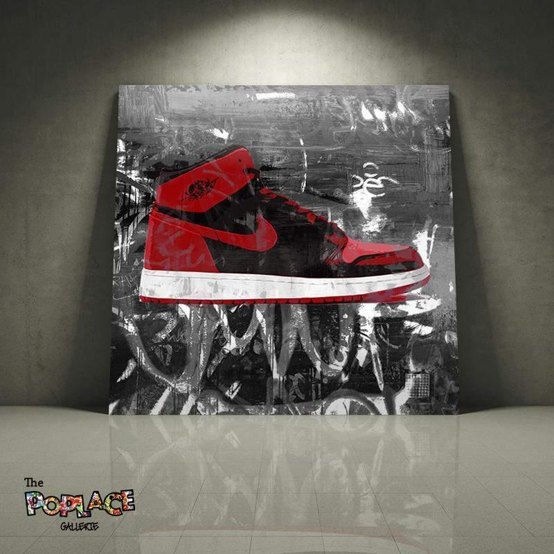 Tableau Air Jordan red face