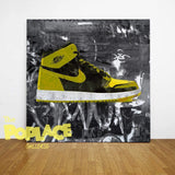 Tableau AIR JORDAN YELLOW FACE