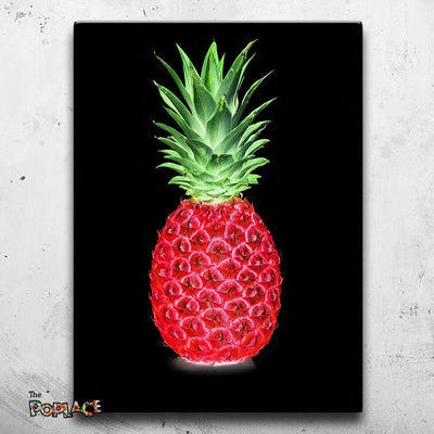 Tableau Black Ananas Splash