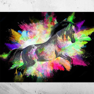 Tableau CHEVAL NEON