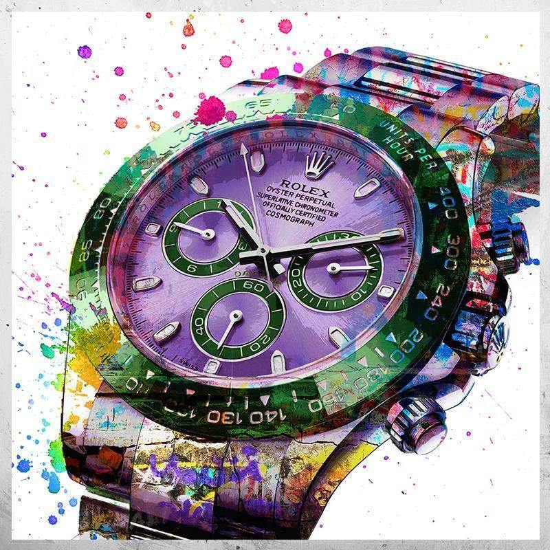 Tableau CHRONO ROLEX SPLASH NEON
