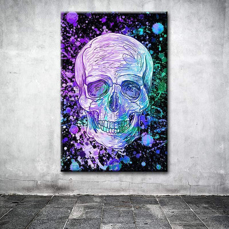 Tableau DIRTY BLUE SKULL