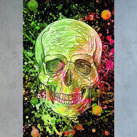 Tableau DIRTY GREEN SKULL