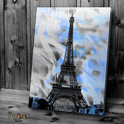 Tableau BLUE EIFFEL TOWER thepoplace
