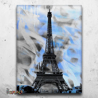 Tableau Paris Blue Eiffel Tower