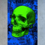 Tableau GREEN POP SKULL
