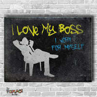 Tableau I LOVE MY BOSS BLACK