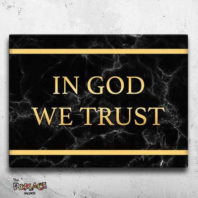 Tableau IN GOD WE TRUST (BLACK)