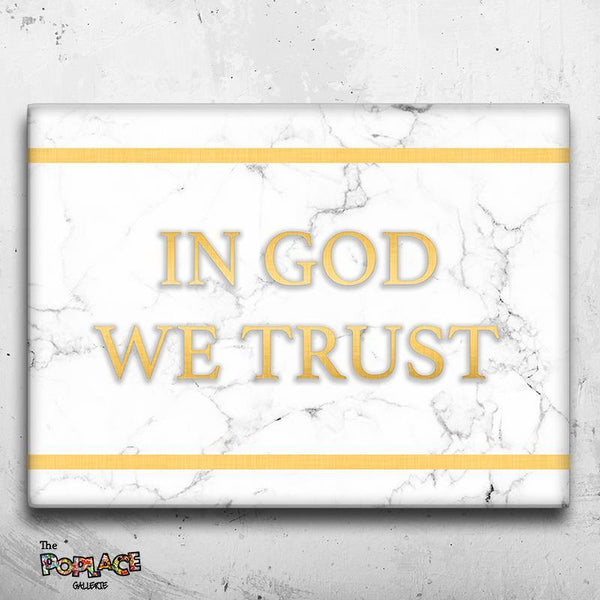 Tableau IN GOD WE TRUST