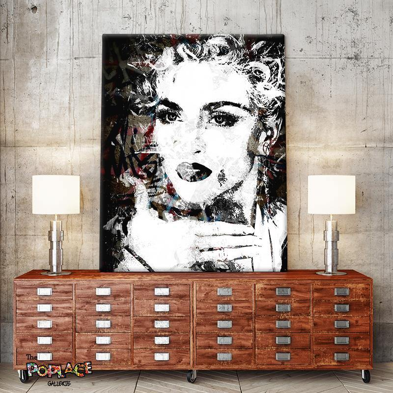 Tableau MADONNA BLACK SPLASH