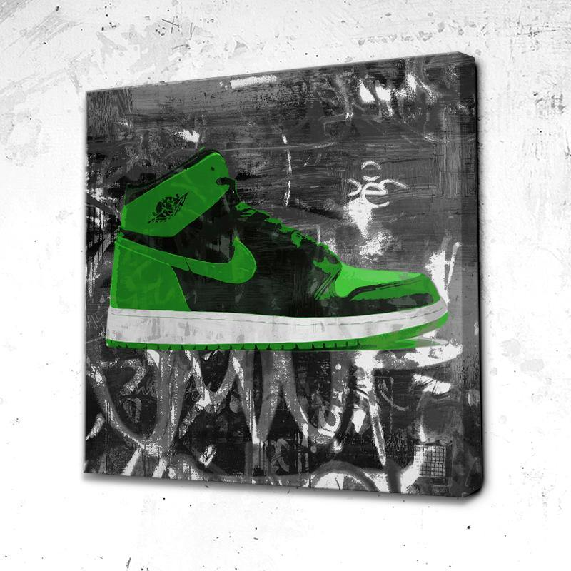 Tableau Air jordan green face