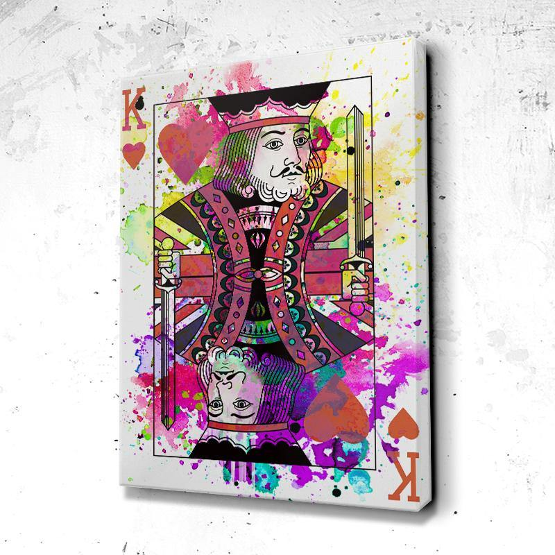 Tableau Poker King Color Neon Face