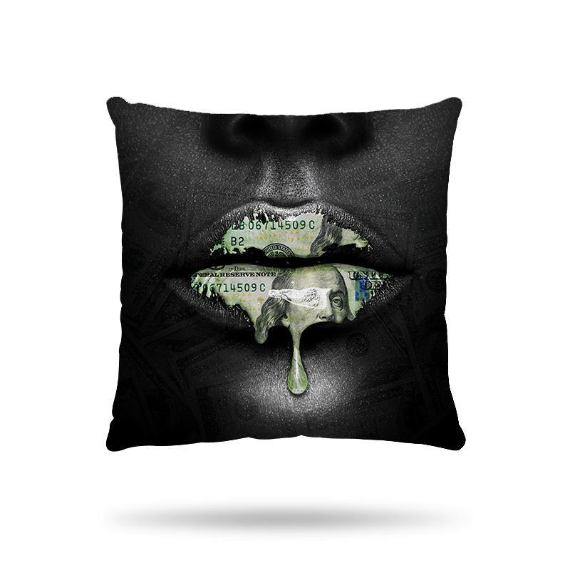 Coussin Lèvres dollars