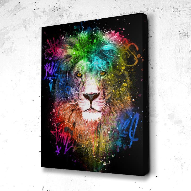 Tableau Lion Graff Art