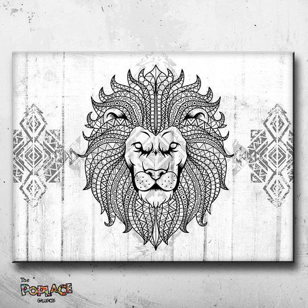 Tableau LION HIPPIE BLACK thepoplace