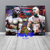 Tableau MAYWEATHER VS MCGREGOR COLOR FACE