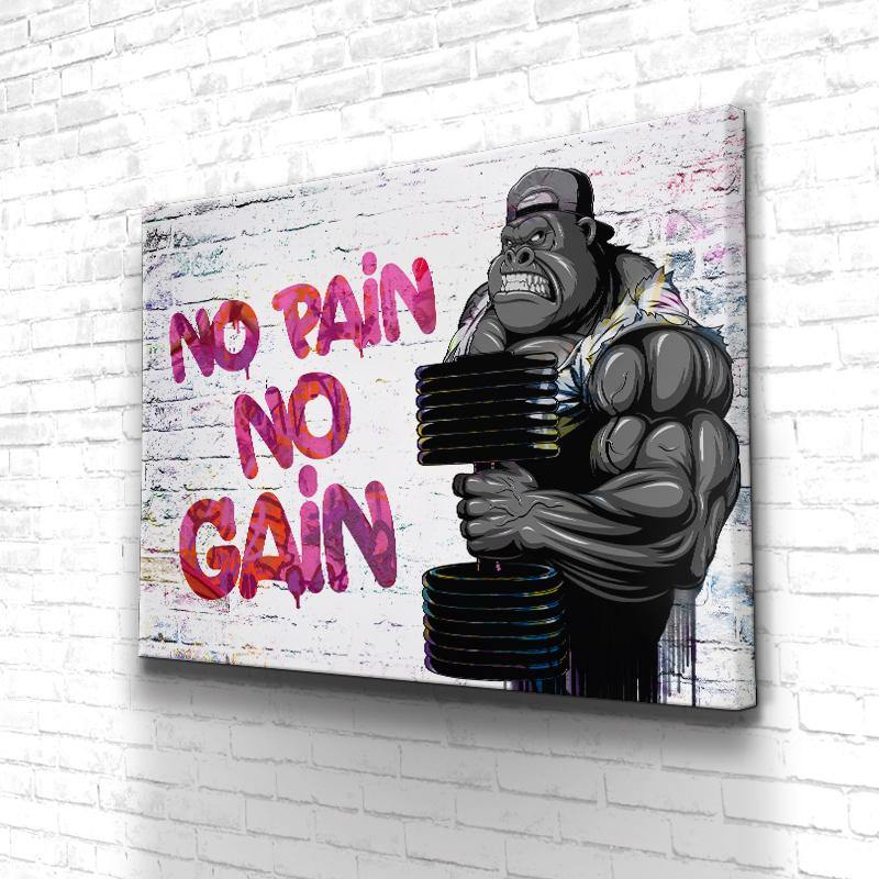 Tableau Motivation Muscu No Pain No Gain