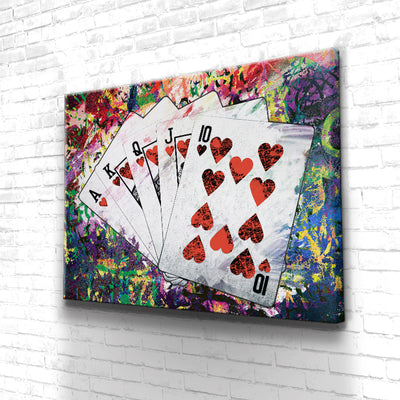 Tableau Poker Flush Royal