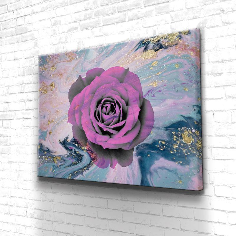 Tableau Fleur Rose Abstract
