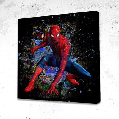 Tableau Spiderman Comics Black