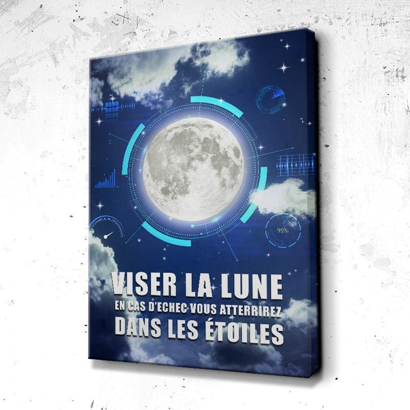 Tableau Motivation Viser La Lune