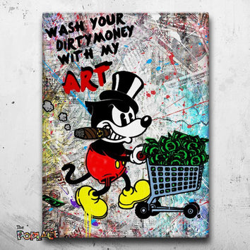 Tableau MICKEY WASH YOUR MONEY