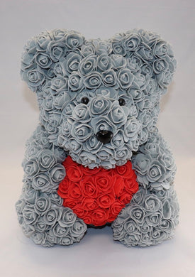 The Roseland Company Grey Teddy Bear with Red Heart (big size)