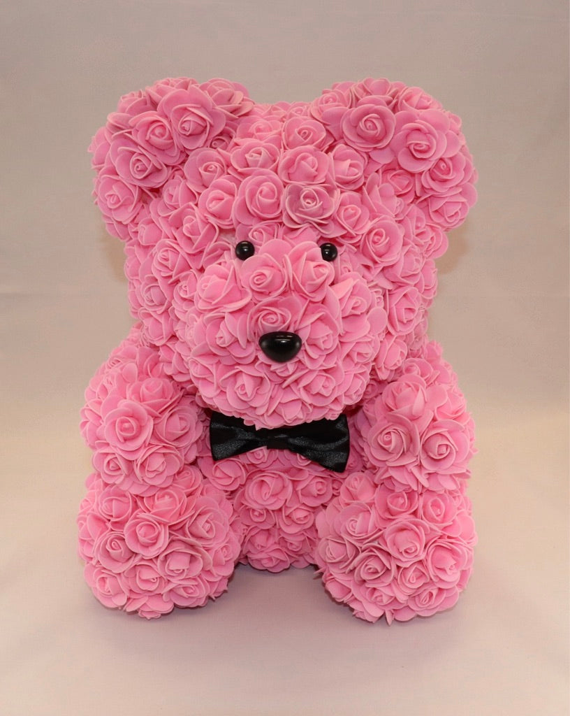 The Roseland Company Pink Teddy Bear with Bow (big size)