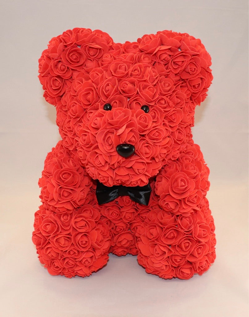 The Roseland Company Red Teddy Bear with Bow (big size)