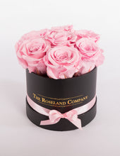 The Roseland Mini Black Round Box - Pink Eternity Roses