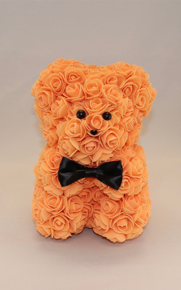 The Roseland Company Peach Teddy Bear with Bow