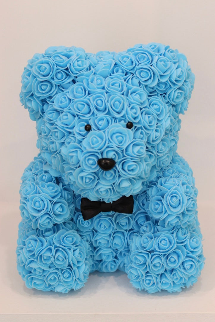 The Roseland Company Blue Teddy Bear with Bow (big size)