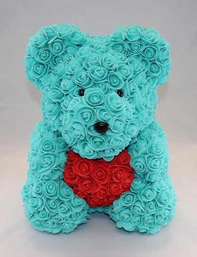 The Roseland Company Blue Teddy Bear with Red Heart (big size)