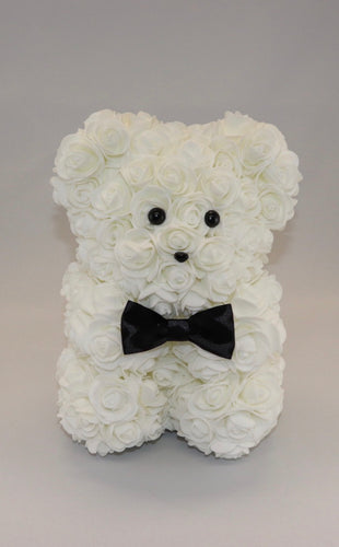 The Roseland Company White Teddy Bear with Bow