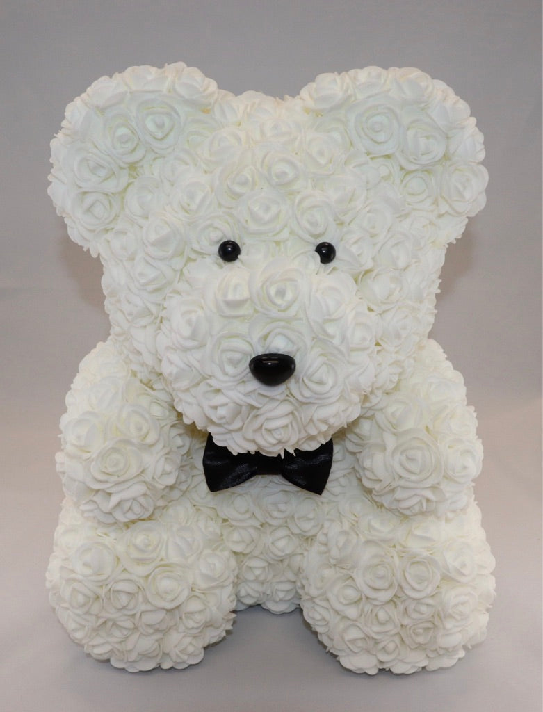 The Roseland Company White Teddy Bear with Bow (big size)
