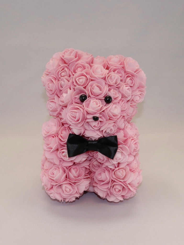 The Roseland Company Pink Teddy Bear with Bow