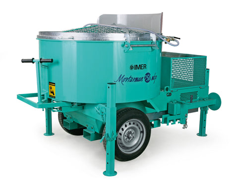 IMER USA Mortarman 750 22cubic foot mini batch plant mixer