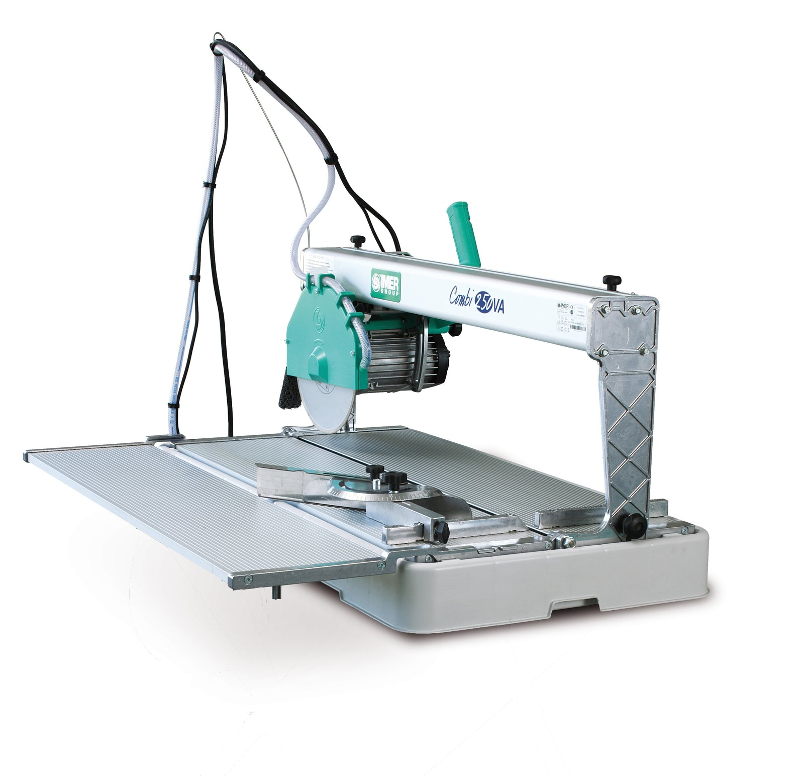 "IMER Combi 250 10"" precision lightweight tile and stone saw with side table"