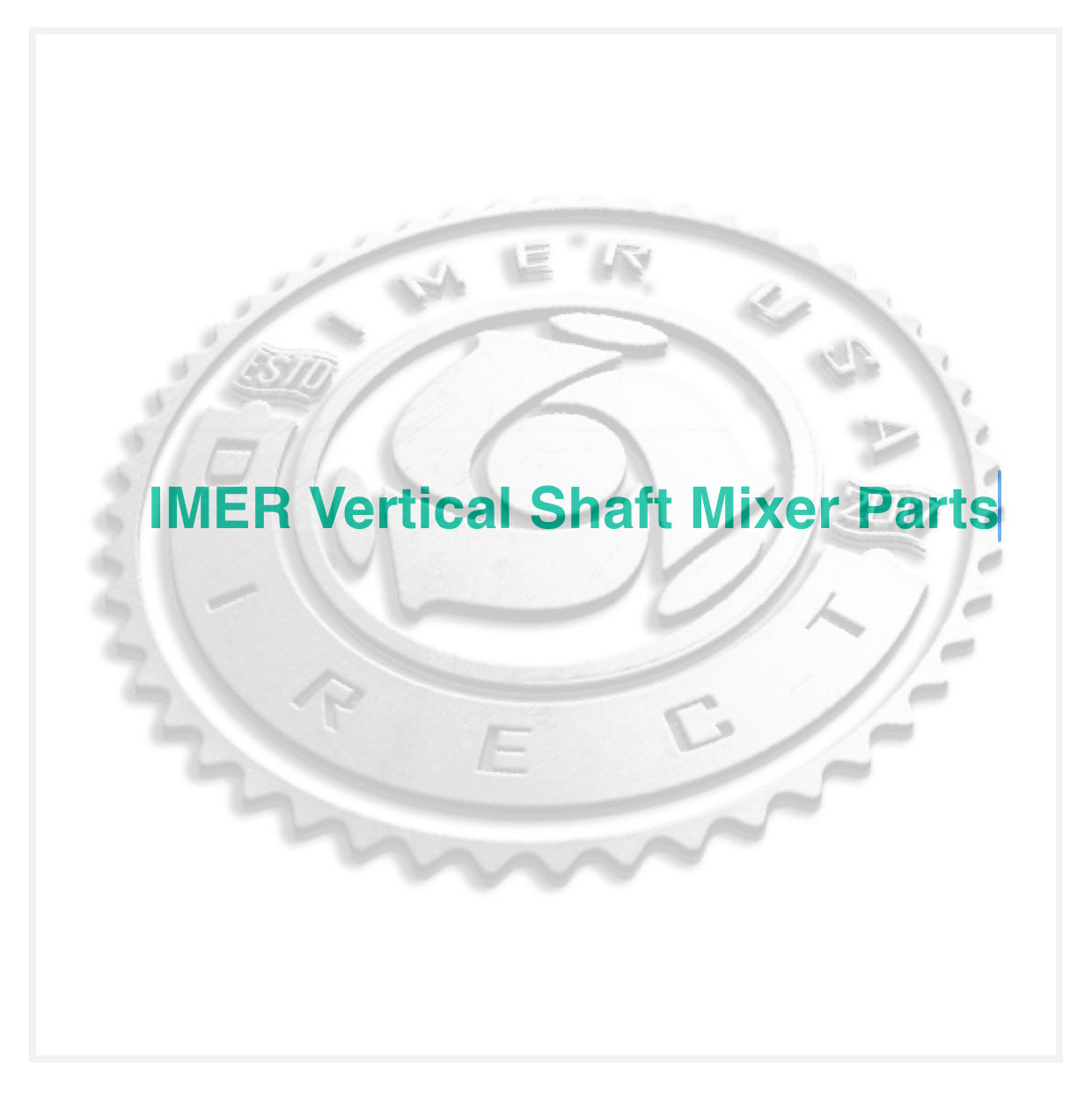 IMER Part Number 3211674  - Face Plate - Horizontal Outer Paddle - IMER MIX 750/360 Vertical Shaft Mixers