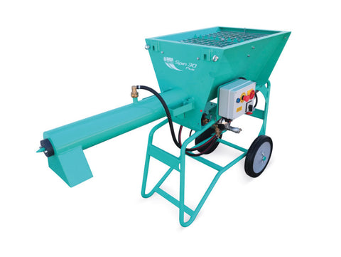 IMER Spin 30 PLUS 220V Single Phase Electric Continuous Mixer for Pre Blended Materials.