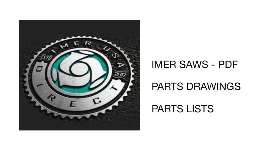 IMER SAWS Parts Drawings and Lists PDF