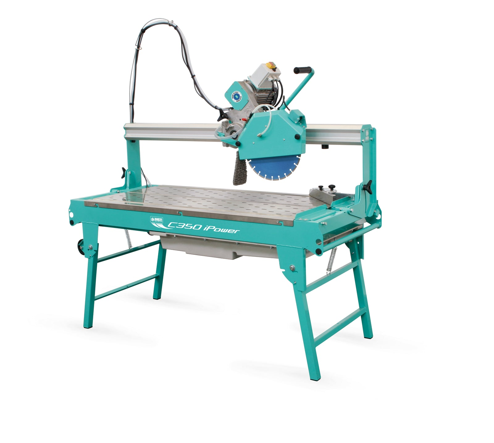 "IMER Combi 1200 Ipower 220v 14"" Blade 48"" cut stone and slab Saw"