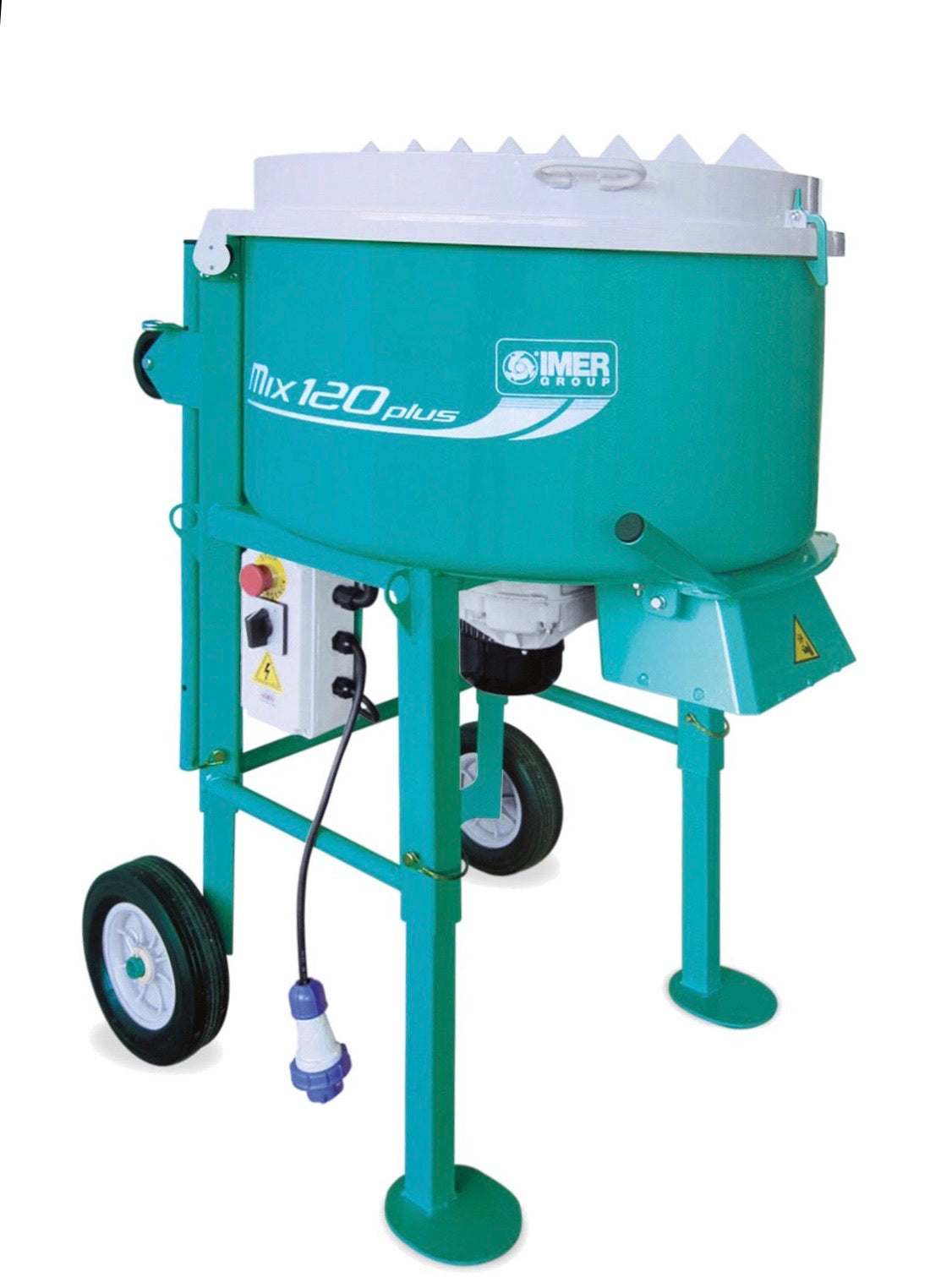 IMER MIX 120 Plus Portable Vertical Shaft Mixer - STANDARD GRATE